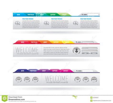 web design header menu website header with navigation menu royalty free stock