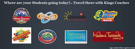 theme park near manchester coach hire manchester north west coach hire school trips