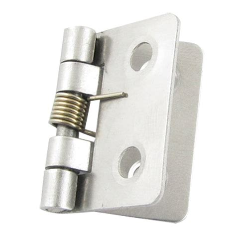 spring loaded hinges silver tone 25 x 33 x 0 8mm spring loaded