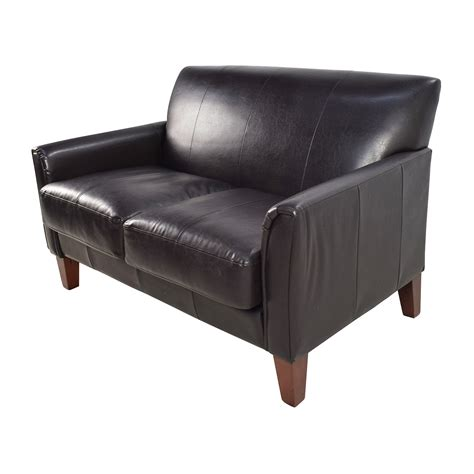 black leather sofa loveseat 53 off black leather loveseat sofas