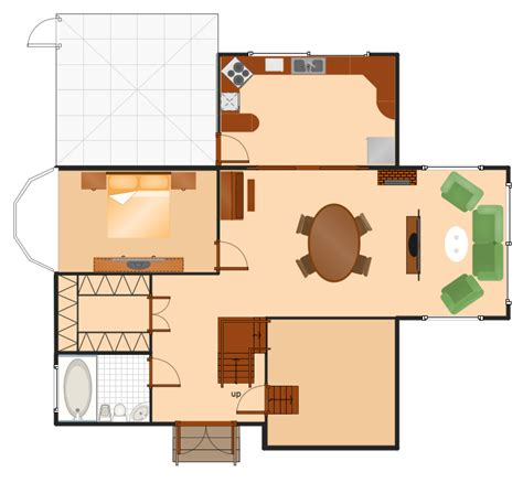 make a house plan floor plans solution conceptdraw com
