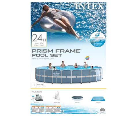 52 inches in feet intex 24 feet x 52 inches prism frame pool set 28761eh