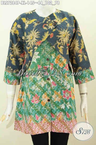 Baju Pakaian Murah Batik Azkana 2 baju blus wanita dewasa pakaian batik elegan 2 motif