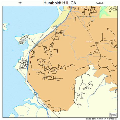 where is hill california map humboldt hill california map 0634928