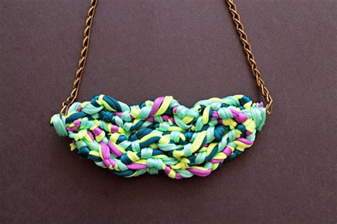 material to make jewelry diy fabric necklace 183 how to make a fabric necklace