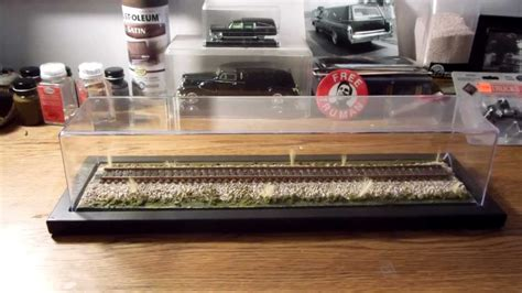 scale model display cabinet custom display case for model trains youtube