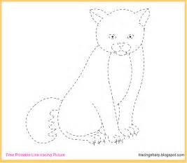 Trace Image Online Free Tracing Line Printable Cat Tracing Picture