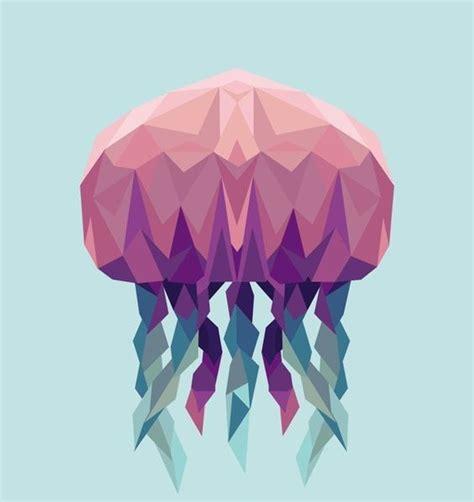 geometric tattoo jellyfish geometric colorful jellyfish tattoo design tattooimages biz