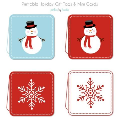Printable Holiday Gift Cards - holiday gift tags and mini cards free printable tip junkie