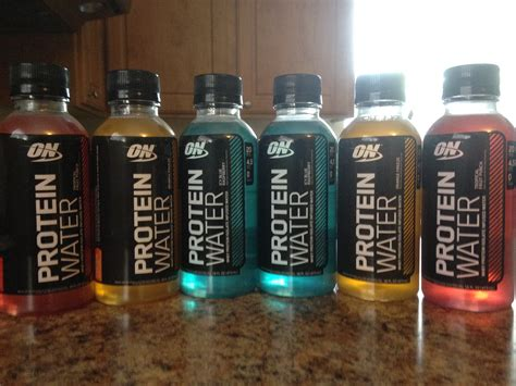 protein water optimum nutrition protein water hungry and fit