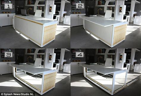 desk that turns into a bed introducing the desk that turns into a bed when employees
