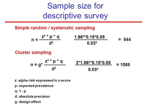 design effect in sle size determination sling and sle size calculation ppt video online