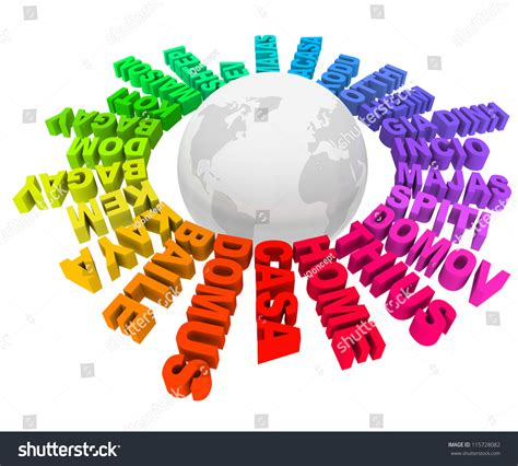 colors in different languages word home many different languages colors stock