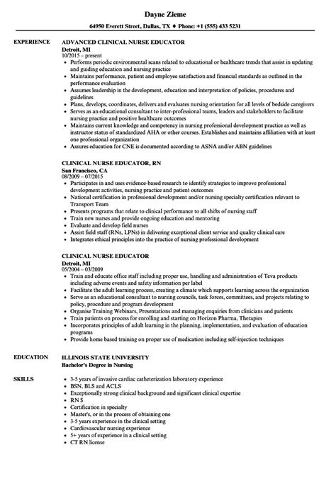 Resume For Nursing Educator by Educator Resume Sle Educator Resume