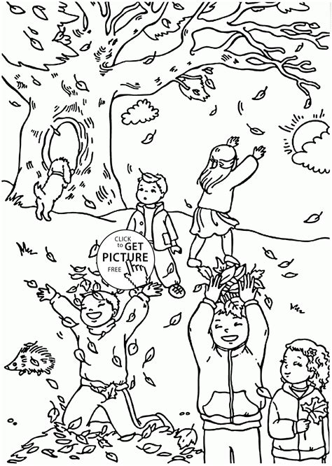 funny fall coloring pages for kids autumn leaves