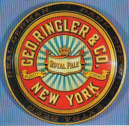 geo. ringler & company | antique beer trays