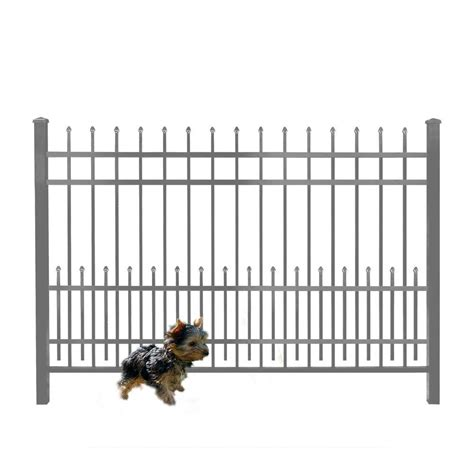 6 in 1 puppy mainstreet aluminum fence 3 4 in x 1 5 ft x 6 ft bronze aluminum fence puppy guard