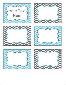 gray and blue chevron labels printable pdf editable labels