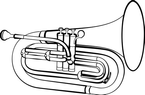 euphonium coloring page baritone wiktionary