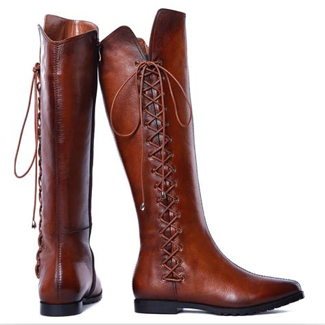 enmayer cool boots shoes knee high boots for