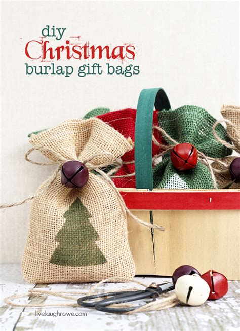 how to geed burlap in a christmas diy burlap gift bags