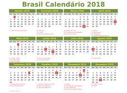 calendario 2018 brasil | printable 2018 calendar free