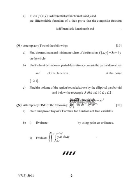 2013 pattern question paper s y b sc 2013 pattern old question paper
