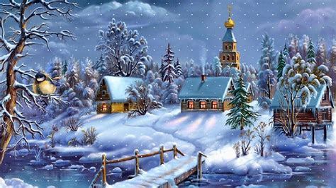 wallpaper christmas village peaceful christmas village wallpapers pictures pics