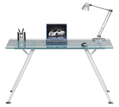 sturdy glass computer desk alphason springfield glass office desk aw42366 cl