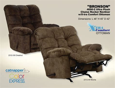 Comfort Recliner Chaise by Catnapper Bronson Chaise Rocker Recliner With X Tra