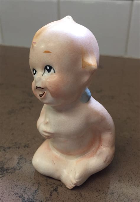 bisque piano doll vintage bisque kewpie doll piano baby with blue wings