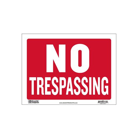 no trespassing signs home depot property no