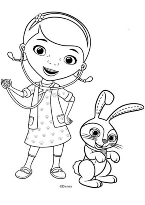doc mcstuffins giant coloring pages doc mcstuffins with carrots bunny coloring page coloring