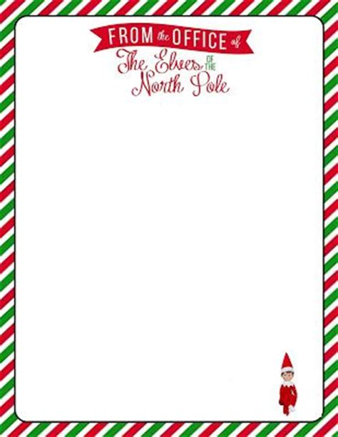 printable elf on the shelf stationary free printable letterhead for your elf on the shelf