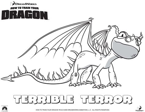 dibujos para pintar de c mo entrenar a tu drag n drag 243 n terror terrible dibujalia dibujos para colorear