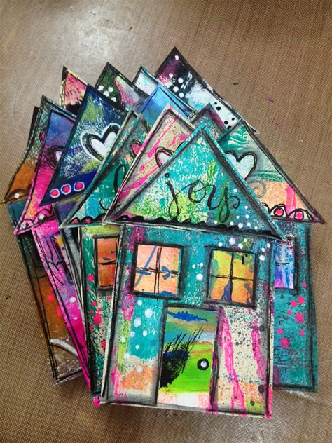 house projects free diane s mixed media happy house tutorial