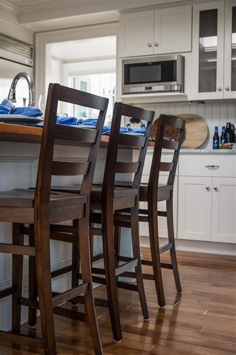 kitchen island chairs hgtv clever and coastal get to know the kitchen triangle