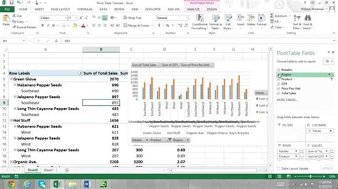 tutorial in excel 2013 pivot table tutorial excel 2013 for beginners part 2