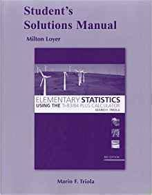 student solutions manual for elementary statistics using the student solutions manual for elementary