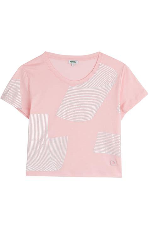 Printed Cropped T Shirt kenzo printed cotton cropped t shirt