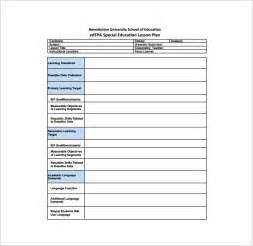 special education lesson plan templates doc 12751650 sle lesson plan template