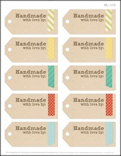 Handmade By Me Labels - 75 free printable labels make it handmade