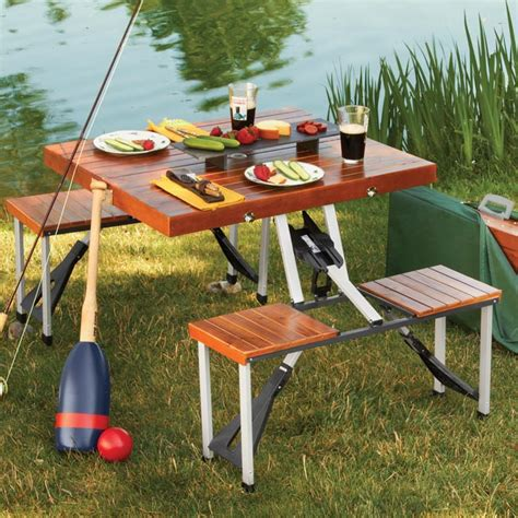Wooden Folding Picnic Table Wonderful Folding Wooden Picnic Table Wooden Picnic Table Folds Into A Briefcase