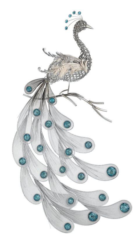 amazoncom regal art gift silver peacock wall decor