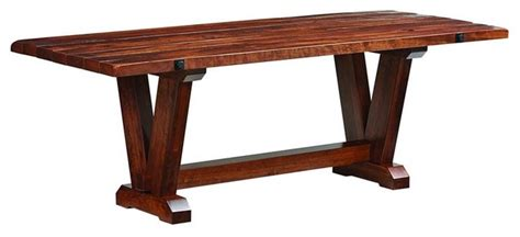 victor plank top rustic cherry table 36 quot x72