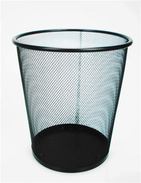waste baskets for bedrooms silver or black office home bedroom metal mesh waste paper
