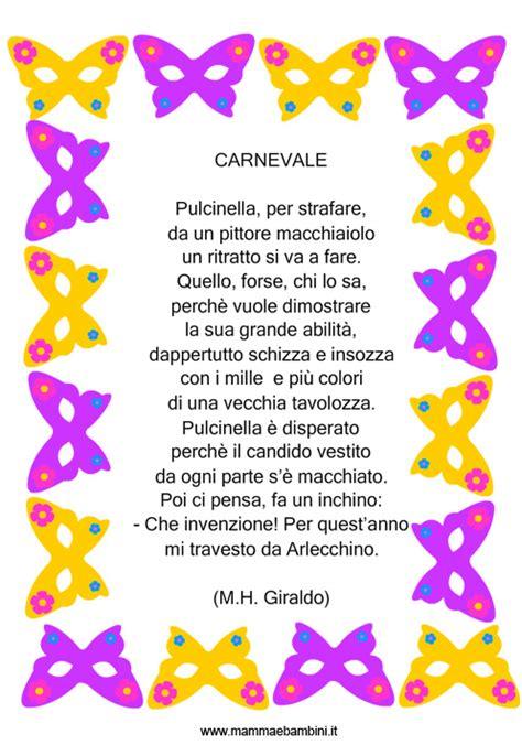 cornici carnevale poesia con cornice carnevale mamma e bambini