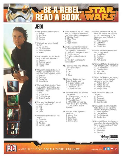 printable star wars quiz questions war trivia and star wars on pinterest