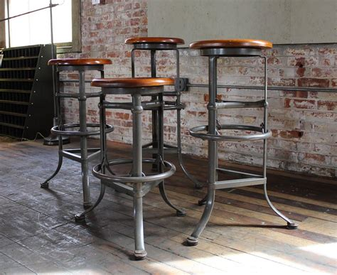 Industrial Bar Stools Vintage by Set Of Four Quot Rite Hite Quot Automatic Adjustable Vintage