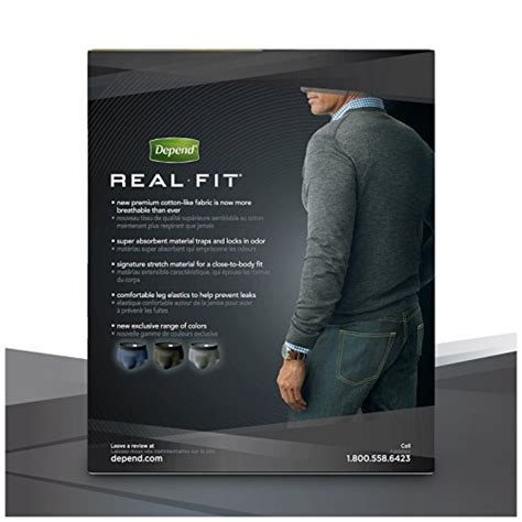 Hn Longtop Grey Fit Xl depend real fit incontinence briefs for maximum absorbency l xl grey new ebay